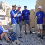 SIS team discussing inscriptions