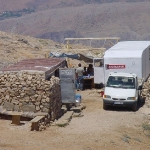 Site-office and pick-up for daily water supply