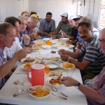 Lunch at site-office