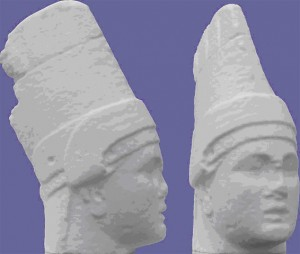 The first volume model of King Antiochos`s head